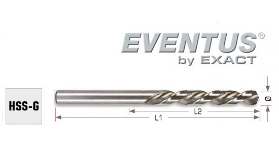 Urbis metālam EVENTUS HSS - G, 1.5mm, 18/40mm