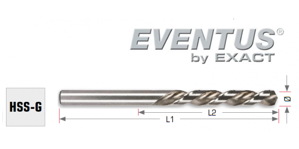 Urbis metālam EVENTUS HSS - G, 2.5mm, 30/57mm