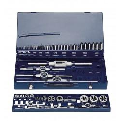 Vītņurbju un Vītņgriežu komplekts  M3-M12, HSS,  DIN352, 52gab./komplektā