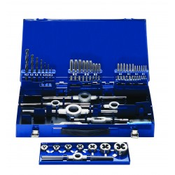 Vītņurbju un Vītņgriežu komplekts  M3-M12, HSS,  DIN352, 42gab./komplektā