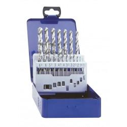 Urbju komplekts 1.0mm- 10.0mm, HSS-G,  DIN338, 19gab./komplektā