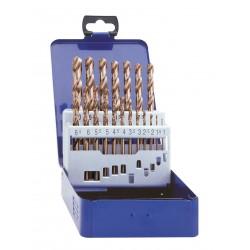 Urbju komplekts 1.0mm- 10.0mm, HSS-E COBALT,  DIN338, 19gab./komplektā