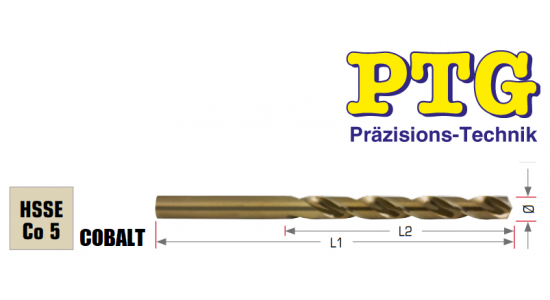 Urbis metālam PTG HSS-E Cobalt, 10.0mm, 87/133mm